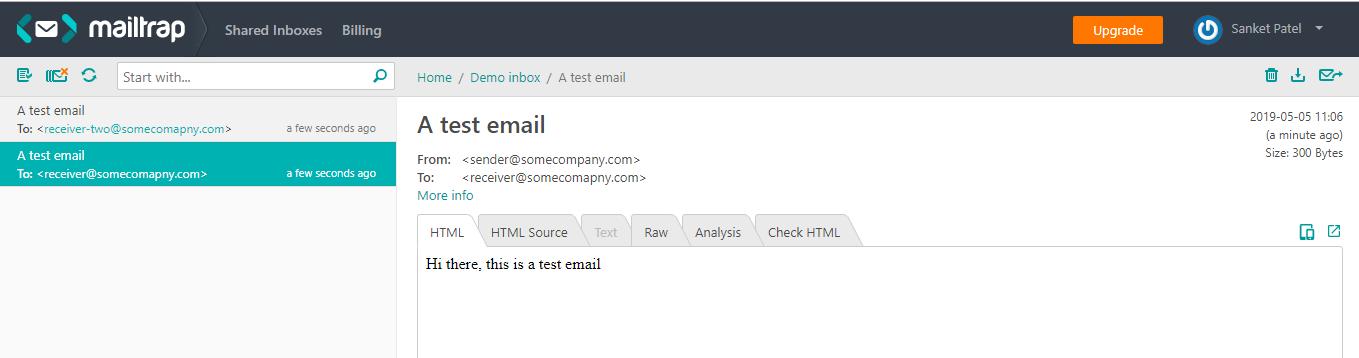 How to Send Email in Node js - Sanket Patel's Website
